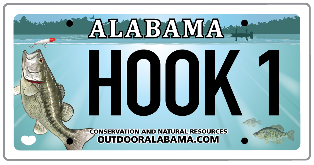 Freshwater Fishing License Plate
