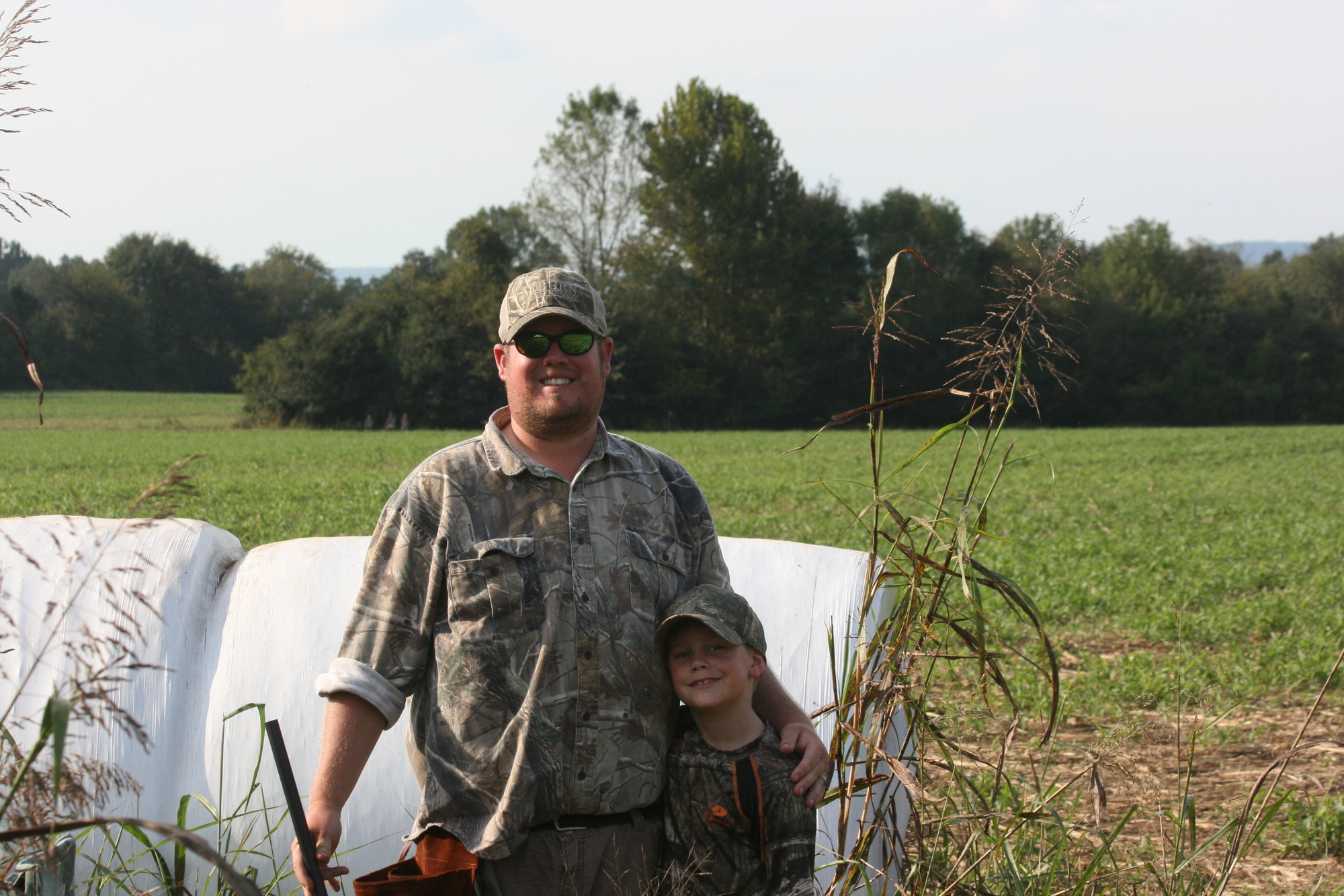 Josh Burnette with his son Logan (age 7) at a Youth Dove Hunt in Jackson County, Alabama.