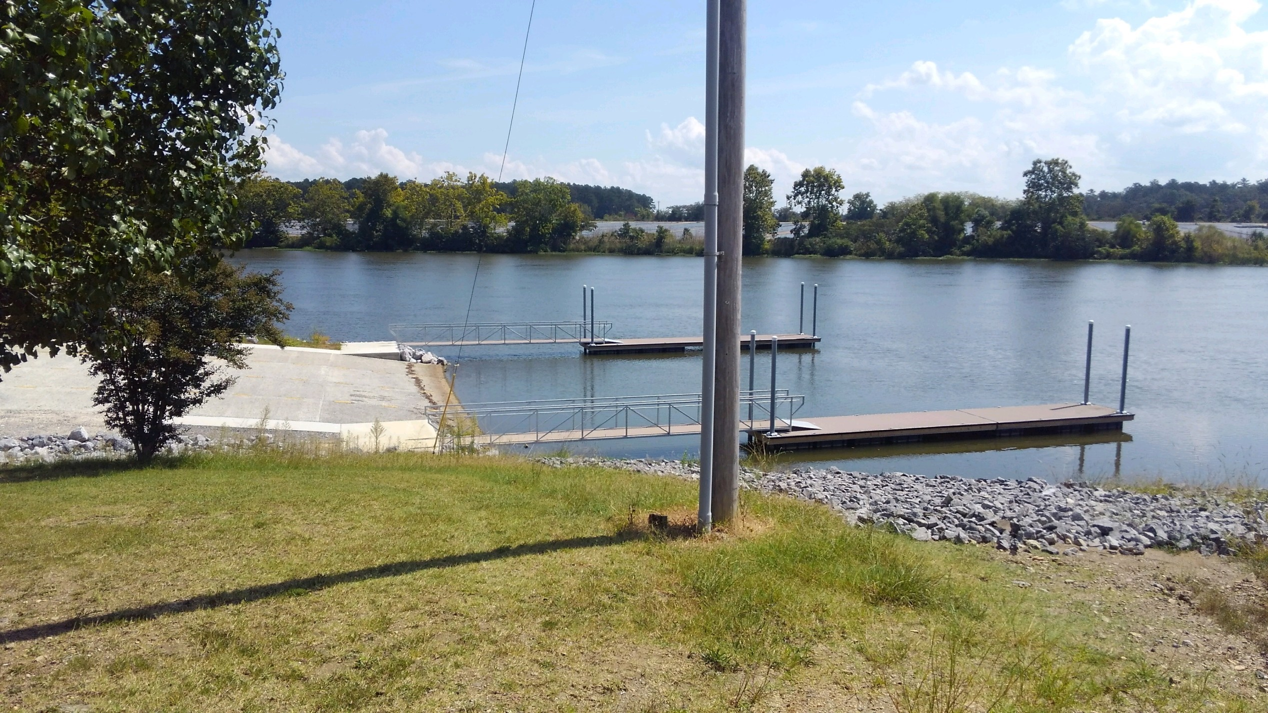The new Leesburg Boat Landing is large enough to accommodate most local and regional fishing tournaments.