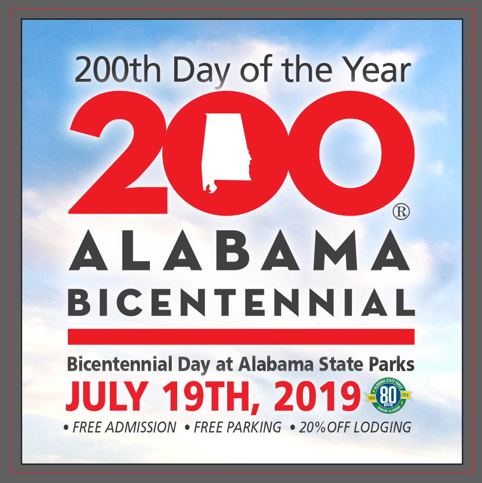Free Admission and More on Bicentennial Day at Alabama State Parks, July 19