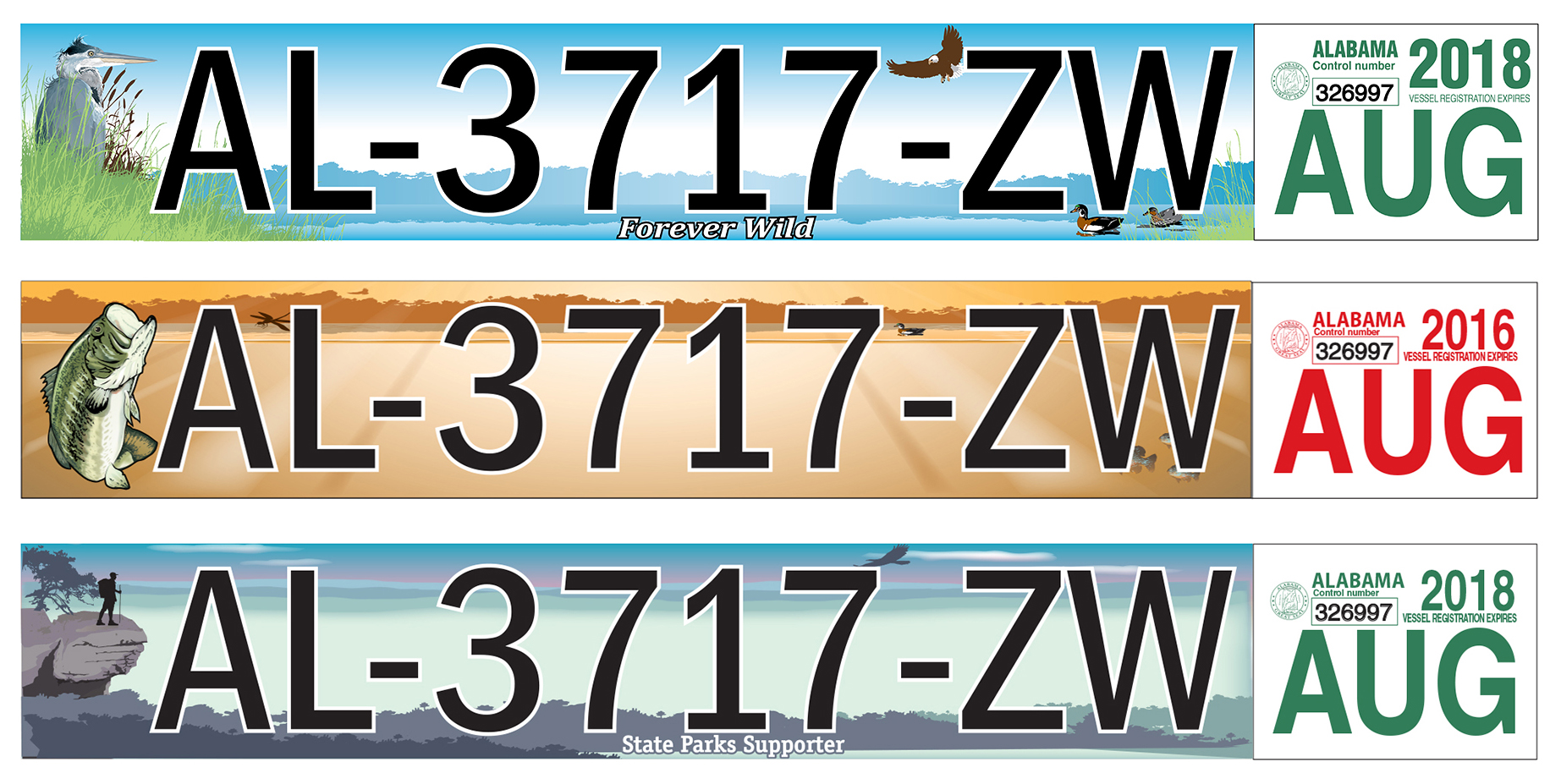 For more information about the availability of the distinctive vessel identification stickers, contact your local probate office.