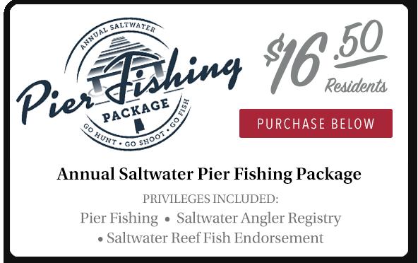 21-22 Alabama Saltwater Pier Fishing Package