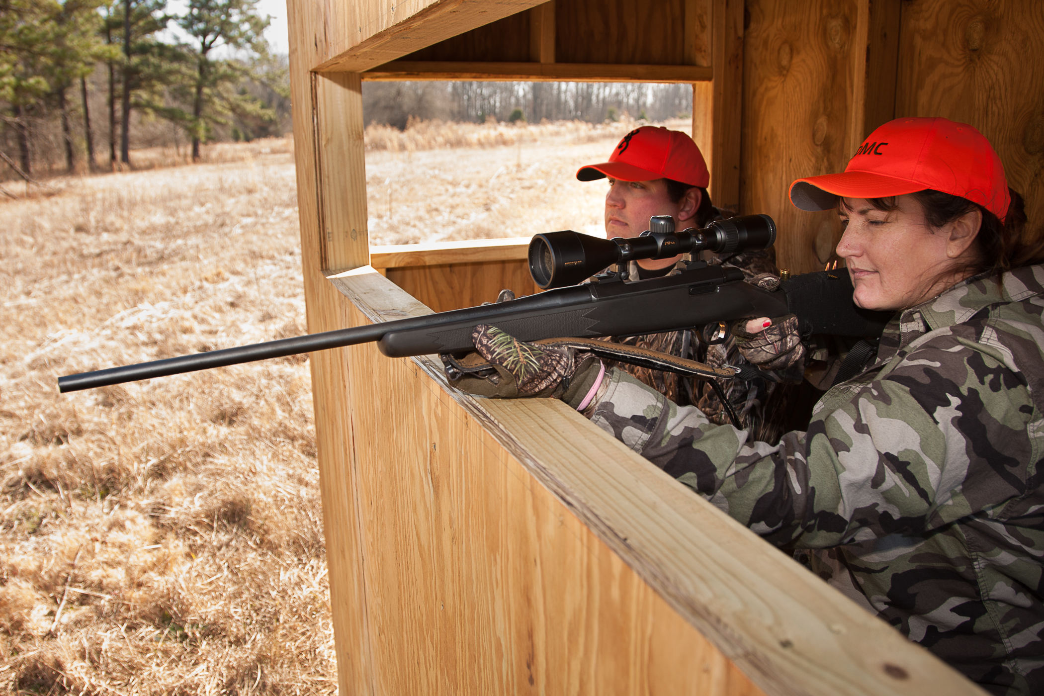 Alabama's Adult Mentored Hunting program provides new hunters with a one-on-one hunt under the guidance of a veteran mentor. Photo by Billy Pope, ADCNR
