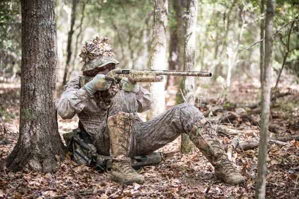 0b1a4f158f6b0 Turkey hunting safety begins when you even get dressed for the hunt. Never  wear red, white or blue clothing that could be visible to another turkey  hunter.