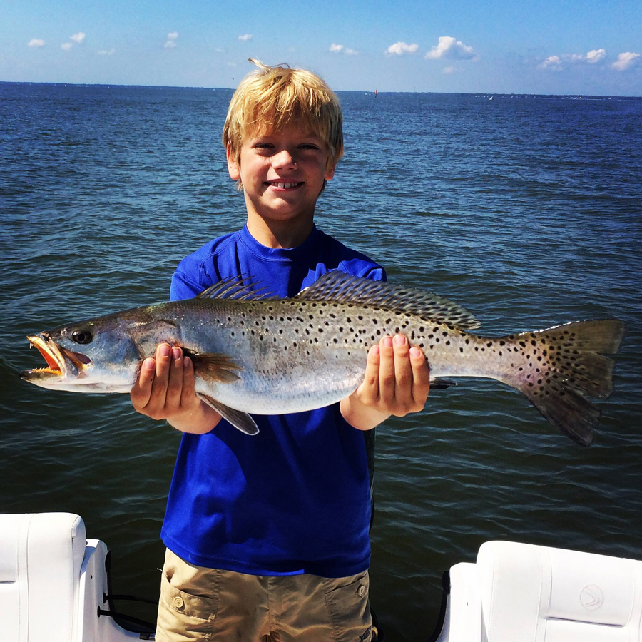 Speckled Trout caught by kid